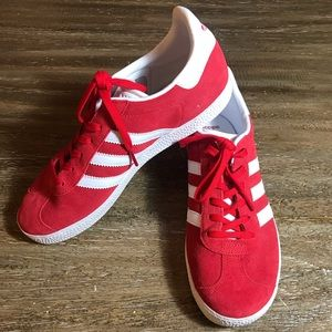 Adidas Gazelle Red Suede Sneakers